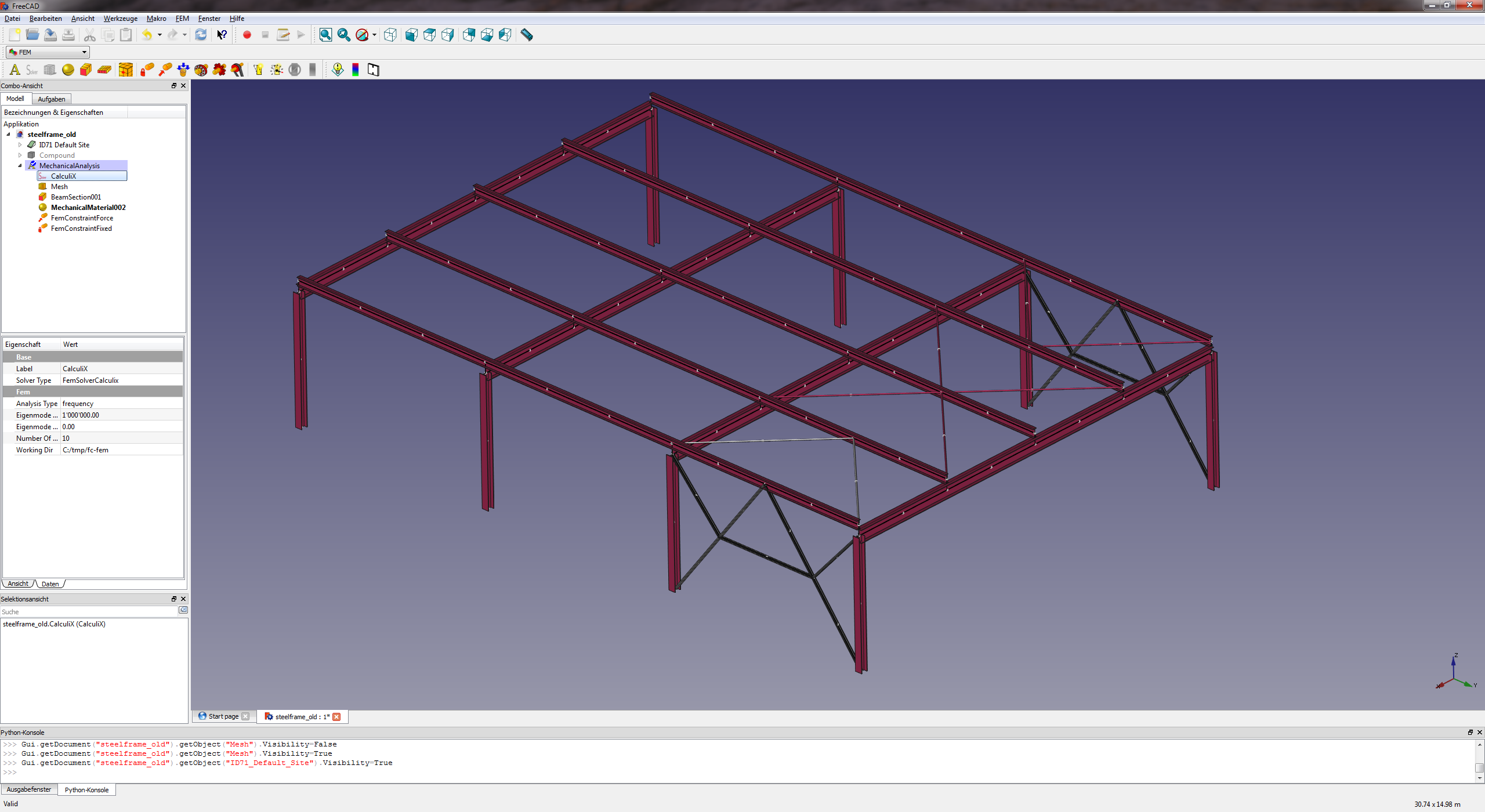 beam analysis with beams in z-direction - FreeCAD Forum
